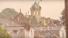 Bunting has been used at Lostwithiel Carnival for decades