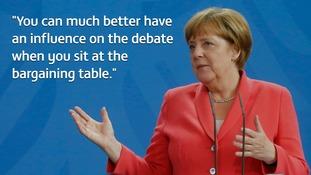 Angela Merkel said she hopes Britain votes to remain in the EU
