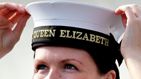 HMS Queen Elizabeth's first recruit
