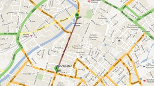 Map of the funeral procession for PCs Fiona Bone and Nicola Hughes