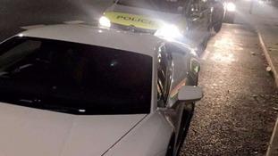 Police examine claims over speeding £200K Lamborghini.
