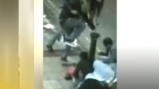 CCTV shows man stamping on teen's head