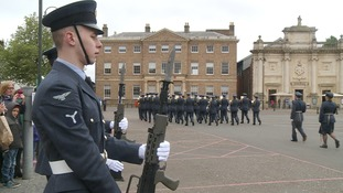 RAF Marham marches on a Freedom Parade through King's Lynn to celebrate centenary