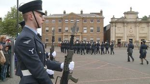 RAF Marham marches on a Freedom Parade through King's Lynn to celebrate centenary