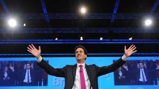 Labour Party leader Ed Miliband delivers his keynote speech to delegates in Manchester today.