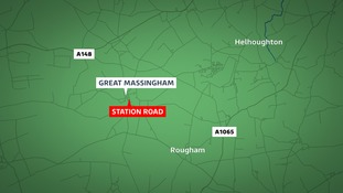 Police are on the scene of a crash at Great Massingham