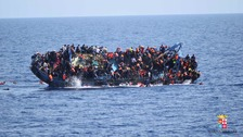 A boat capsized off the coast of Libya yesterday