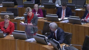 Finance Minister Jane Hutt in the Senedd