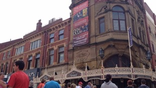 The performance of Grease the Musical was cancelled mid-show after a man fell from the balcony.