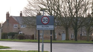 The hunt travels through the village of Elton, near Peterborough.