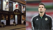 The pub have changed their name while the tournament is on to honour Lafferty.