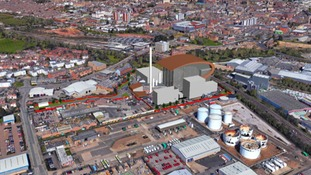 An artist's impression of the gasification plant.