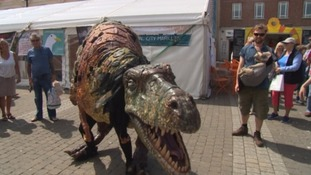 Dinosaurs roam the streets of Truro