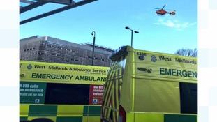 Elderly man falls 20ft from ladder in Dudley