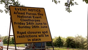 A180 closures throughout the week ahead of Armed Forces Day