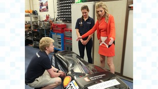 Countdown's Rachel Riley finds out more from the UCL students behind the car