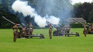 21-gun salute fired in Colchester to mark the Queen's 90th birthday