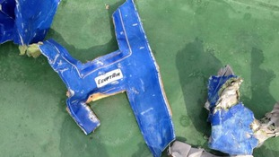 Wreckage from the plane which crashed into the sea.