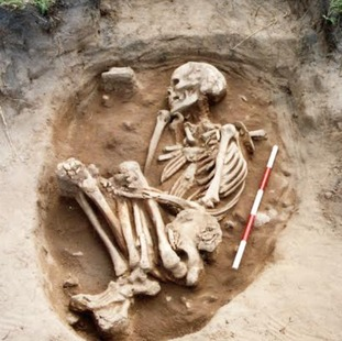 The remains of an Anglo-Saxon settler found at Bamburgh