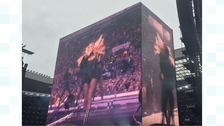 Beyonce performing in Sunderland