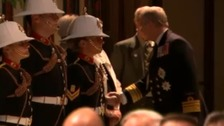 Duke of York greets ceremonial officers