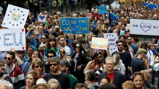Thousands took part in a anti-Brexit protest at the weekend.
