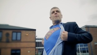 School staff make pop video to entertain leaving pupils after exams.