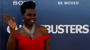 Actress and comedian Leslie Jones at the Ghostbusters premiere.