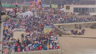 Crowds enjoying the Sunderland Airshow