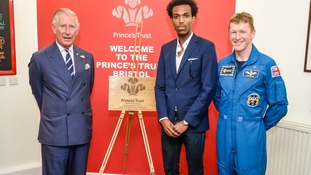 The Prince and the Astronaut with Prince's Trust young ambassador Daniel Edmund.