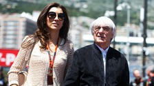 Fabiana Flosi with husband Bernie Ecclestone - Flosi's mother has reportedly been kidnapped in Sao Paulo