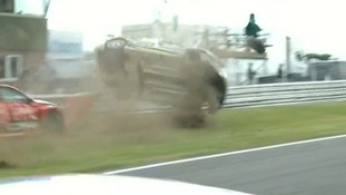 There were two major crashes at the British Touring Car Championships at Snetterton.