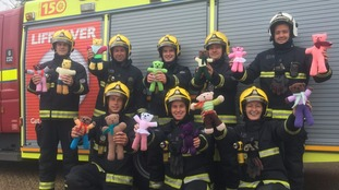 Teddy bears on board fire engines to comfort distressed children
