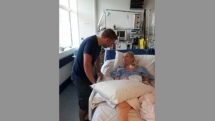 Kirstie Tancock pictured here after her second lung transplant