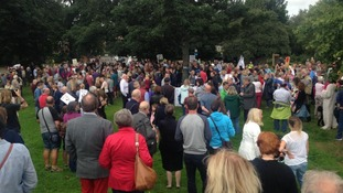 Around 1,000 protesters gather in anger at plans for Bluehouse roundabout changes