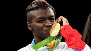Nicola Adams secured gold in the women's flyweight final.