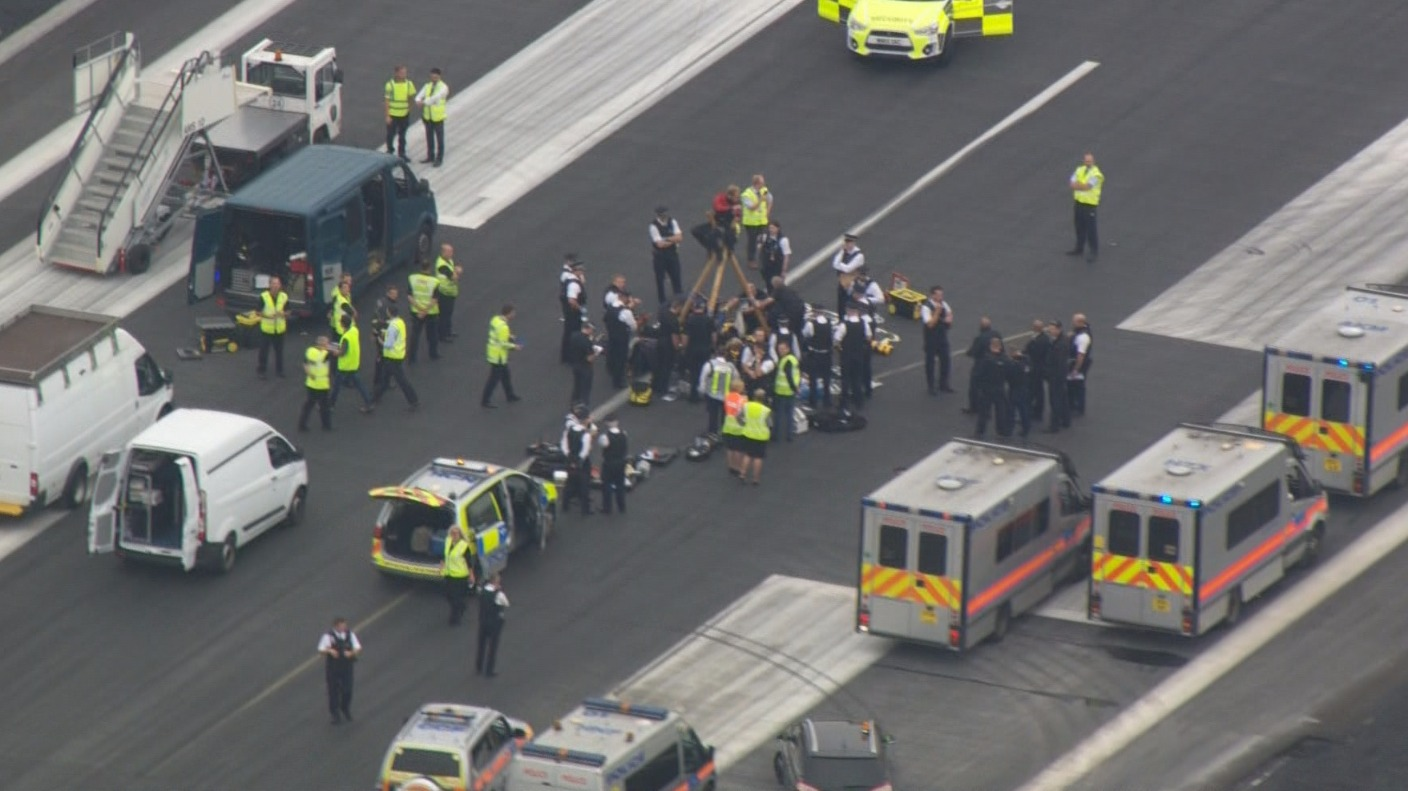 major police operation underway at london city airport