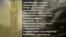 Corby By-Election candidates