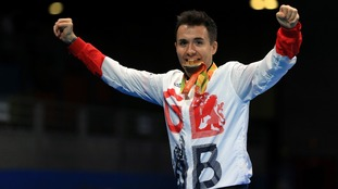 ParalympicsGB's Will Bayley celebrates his gold medal win.