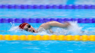 Ellie Robinson came 4th in the S6 women's 400 metres freestyle
