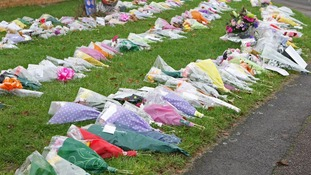 Flowers were left at Barn Mead in Harlow in memory of Sabah Usmani and her five children