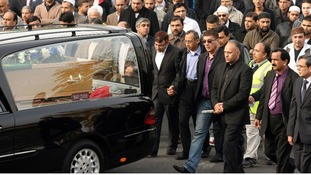 The funeral cortege was led by Dr Abdul Shakoor