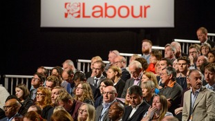 Labour delegates at the party conference in Liverpool.