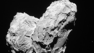 67-P The comet Rosetta has been tracking for two years