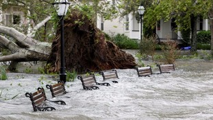 Devastation in Charleston, South Carolina, caused by the storm.