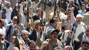 Protesters take to Sanaa's streets to demonstrate against funeral airstrike.