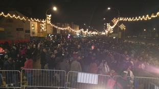 The switch-on brightens up the Golden Mile