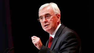 John McDonnell said Philip Hammond's economic forecast was 'gloomy'.