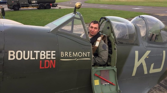 Amputee achieves childhood dream with historic Spitfire flight