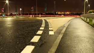 A19 junctions at night